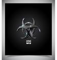 Transparent glass biohazard sign vector image vector image