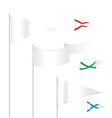 triangle white flags template with examples of use vector image