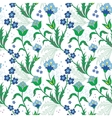 Turkish field flowers seamless pattern