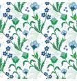 turkish field flowers seamless pattern vector image vector image
