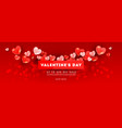 valentines sale romantic banner composition with vector image