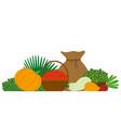 vegetables and fruit harvest festival food vector image vector image