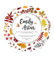 wedding autumn fall invite invitation floral vector image vector image