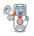 with megaphone remote control character cartoon vector image vector image