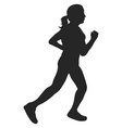 woman running silhouette vector image vector image