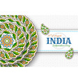 15th august india independence day greeting vector image