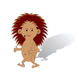 A funny cartoon hedgehog on a white background vector image vector image