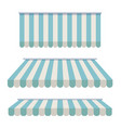 a set of striped awnings canopies for the store vector image