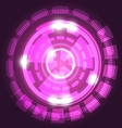 Abstract technology pink background with circles vector image vector image