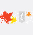 autumn leaves with text on a hand drawn background vector image vector image
