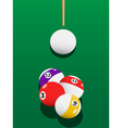Billiards aiming vector image vector image
