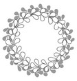 black and white laurel wreath frame isolated vector image
