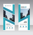Blue Business Roll Up Banner flat design template vector image