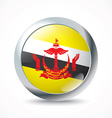 Brunei flag button vector image