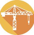 Building Crane Icon vector image vector image