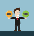 businessman balance life and work vector image vector image