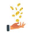 Businessman hand holding money