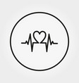 cardiogram universal icon editable thin vector image