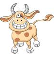 cartoon funny cow smile vector image vector image