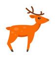 christmas deer icon flat style vector image vector image