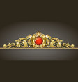 classic gold ornament vector image vector image