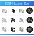 craftsmanship icons set vector image vector image