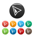 cursor modern icons set color vector image vector image