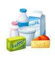 dairy products milk food vector image