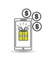 e-commerce gift money icon design vector image vector image