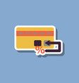 fashion patch sale sticker bank card vector image