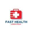 fast medicine logo designs vector image