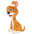 Funny puppy cartoon vector image vector image
