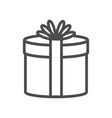 gift icon on white background e vector image vector image