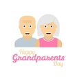 Grandparents day background with grandparents vector image vector image