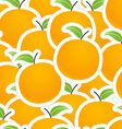 group oranges seamless background vector image vector image