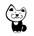 hand drawn doodle cat icon vector image vector image