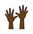 hand up symbol vector image