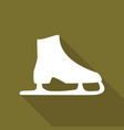 icon ice skates with a long shadow vector image