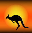 Kangaroo silhouette vector image vector image
