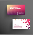 modern business card template with haxagons vector image