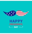 Mustaches with stars and stripes Presidents Day vector image
