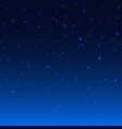 night shining starry sky blue space background vector image