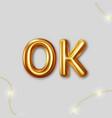 ok logo design template gold vector image vector image