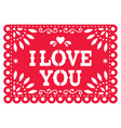 papel picado design for valentines day vector image