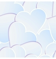 Paper heart banner with drop shadows EPS 10 vector image vector image