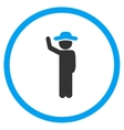 Person Hitchhike Circled Icon vector image vector image