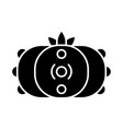 peyote cactus glyph icon vector image vector image