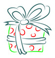 present drawing on white background vector image