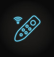 remote controller icon in glowing neon style vector image vector image