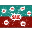 Sale Banner over white paint blot vector image